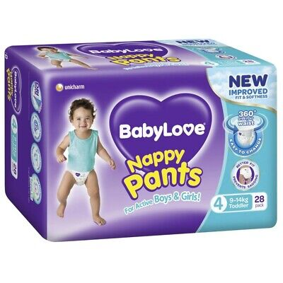 AU17.85 • Buy Babylove Unisex Stretchy Toddler Nappy Pants 9-14 Kg Size 4 28 Pack