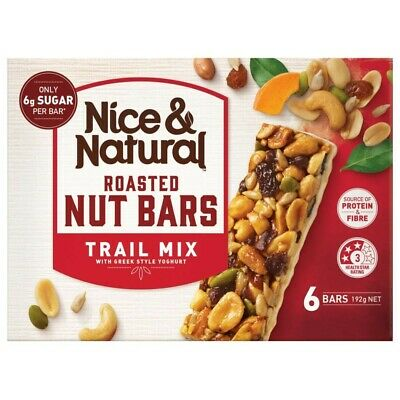 View Details Nice & Natural Trail Mix Roasted Nut Bars 6 Pack 192g • 3.00AU