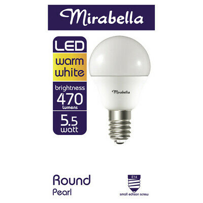 AU6.50 • Buy Mirabella LED Globe Fancy Round Small Edison Screw 6 Watt Pearl 1 Each