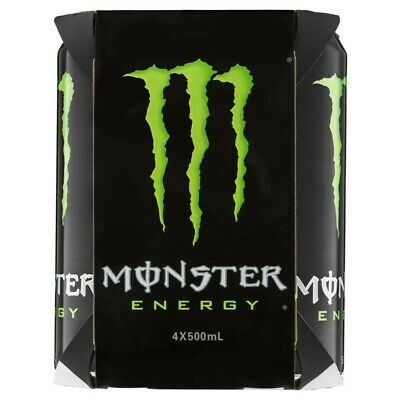 View Details Monster Green Energy Drink Cans 500mL 4 Pack • 12.50AU