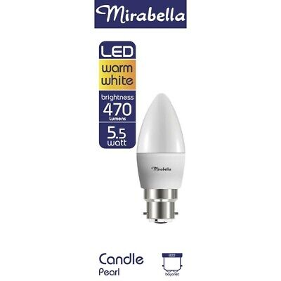 AU6.50 • Buy Mirabella Globe Led Candle 5.5 Watt Pearl 1 Each