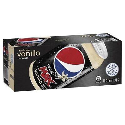 View Details Pepsi Max Vanilla Multipack Cans 375mL 10 Pack • 7.00AU
