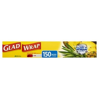 View Details Glad BPA Free Proven Strength Freshness Shield Ezy Cutter Bar Cling Wrap • 7.95AU