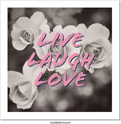 Live Laugh Love Quote On Rose Art/Canvas Print. Poster, Wall Art, Home Decor • 26.21£