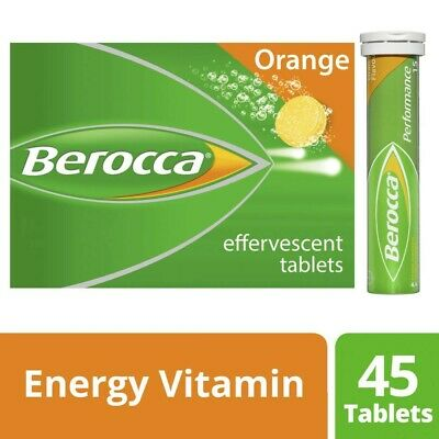 View Details Berocca Performance Dietary Energy Vitamin Effervescent 45 Tablets Orange • 17.00AU