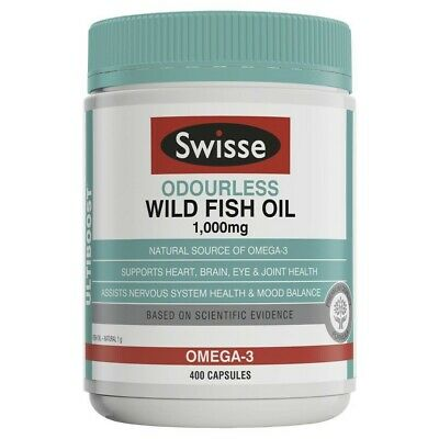 View Details Swisse Ultiboost Odorless Wild Fish Oil 1000mg Capsules 400 Pack • 29.40AU