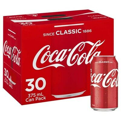 View Details 30-Multi Pack Coca-Cola Classic Coke Canned Soft Drink Refreshment 375mL • 38.90AU