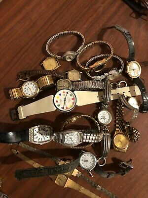 $ CDN15.80 • Buy Lot Of 17 Vintage Watches For Collectors No Guarantee If They Work