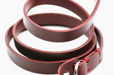 Burgundy Leather Camera Strap With Ring Connection By Cam-in (Red Stitching) • 25.99£