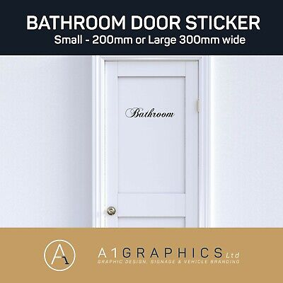 Bathroom Door Sign Man Women -Wall Art Sticker Decal Decoration • 2.49£