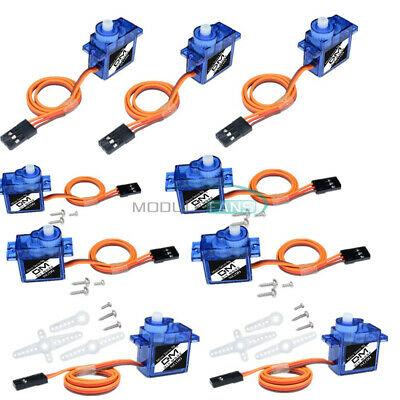 AU13.93 • Buy 10PCS 9G SG90 Mini Micro Servo For RC Toys Robot Helicopter Airplane Car Boat