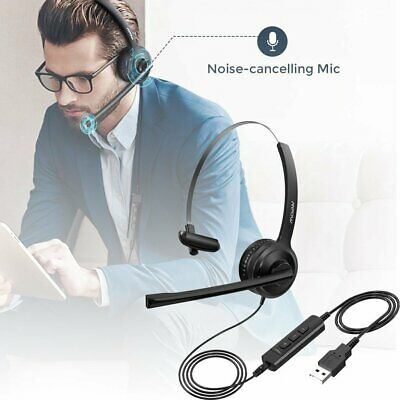 Mpow Stereo 3.5mm/USB Wired PC Headset Headphone Clear Sound For Computer Skype • 19.59£