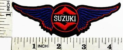 $6.99 • Buy SUZUKI Motorcycle Motocross Motogp 4.3  X1.5 Iron-on Or Sew-on Embroidered Patch