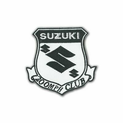 $6.99 • Buy Suzuki 200MPH Club 9 Cm X 7 Cm Iron-on Or Sew-on Embroidered Patch Badge