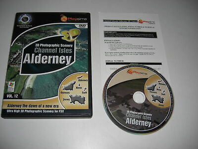 Channel Isles ALDERNEY Photographic Scenery Pc Cd Add-On Flight Simulator X FSX • 9.99£