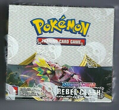 $158.09 • Buy Pokemon Sword And Shield Rebel Clash BOOSTER BOX 36 Ct NEW SEALED