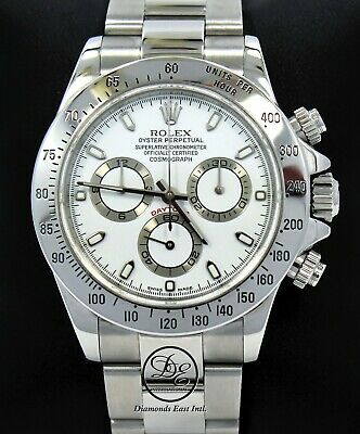 $ CDN23360.28 • Buy Rolex Daytona 116520 Cosmograph Steel Oyster White Dial Watch *MINT CONDITION*