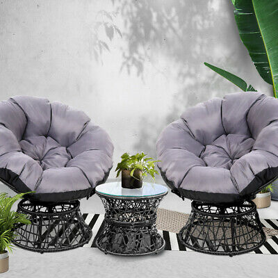 AU424.90 • Buy Gardeon Outdoor Lounge Setting Furniture Papasan Chair Table Wicker Sofa Patio