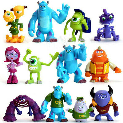12X Monsters Inc University Sully Mike Animal Action Figure Gift Toy Cake Topper • 12.99£
