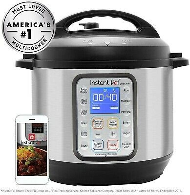 $150 • Buy Instant Pot Smart WiFi 8-in-1 Electric Pressure Cooker 6 Quart