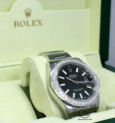 $ CDN13100.81 • Buy Rolex Datejust II 116300 3.25 CT Diamonds Bezel Black Dial Steel Box/Papers Mint