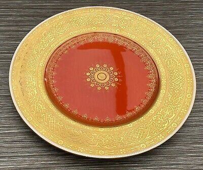 Minton Plate Heavily Raised Gilded Cabinet Plate Excellent Very High Quality • 169£