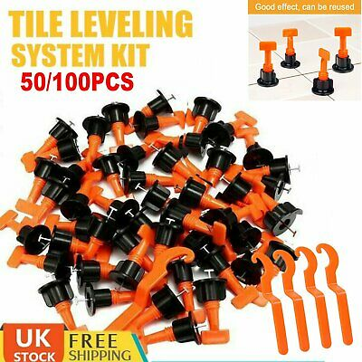 100pcs Tile Positioning Leveler System Kits Tile Spacer Reusable Wall Floor Tool • 12.99£