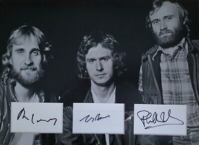 £269.99 • Buy GENESIS Signed 16X12 Photo Display PHIL COLLINS, MIKE RUTHERFORD, TONY BANKS COA