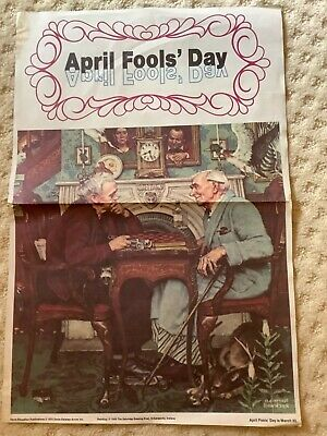 "$ CDN12.98 • Buy Norman Rockwell 1973 April Fools Day The Saturday Evening Post Poster 18"" X 12"""