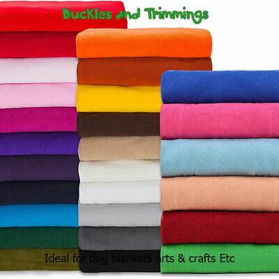 £1.50 • Buy Polar Fleece Fabric Anti Pill, Fully Washable,150cm Wide, Lots Of Colours