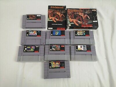 $ CDN99.95 • Buy Lot Of 8 SNES Game Cartridges Mario All Stars Spawn Street Fighter Pink Panther