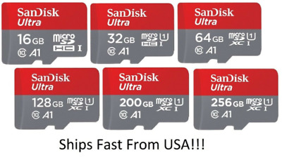 $8.99 • Buy Sandisk Ultra Micro Sd Card Memory Card 16GB 32GB 64GB Mobile Card Adapter Lot