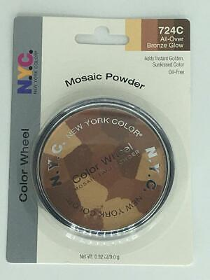 NYC Mosaic Powder Color Wheel 724C All-Over Bronze Glow • 24.60£