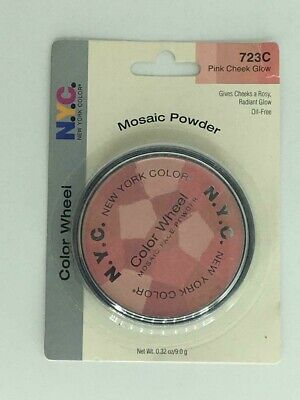NYC Mosaic Powder Color Wheel 723C Pink Cheek Glow Package May Be Imperfect • 15.92£