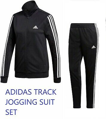 $84.99 • Buy Adidas Womens Team Sports Track Suit Jogging Set New Size Small Black Dv2431