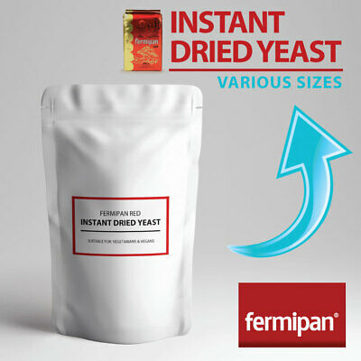 INSTANT DRIED YEAST Fermipan Red High Activity Instant Dry Bakers Yeast  • 4.99£