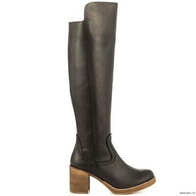 $65 • Buy US 9.5-10 EUR 41 MTNG Toscano Negro Knee-High BLACK BOOTS
