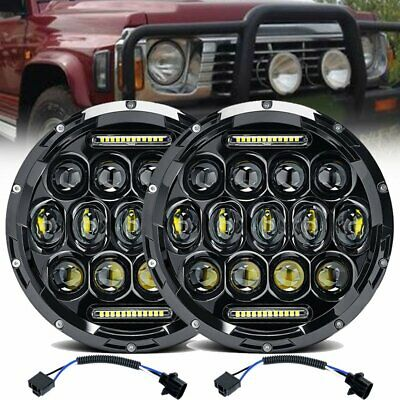 AU80.99 • Buy Pair 7'' Inch Round LED Headlights Hi/Lo Sealed Beam DRL Headlamps For GQ PATROL