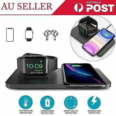 AU35.59 • Buy 2in1 Wireless Charger Fast Charging Dock Stand For Airpods Apple Watch IPhone WR