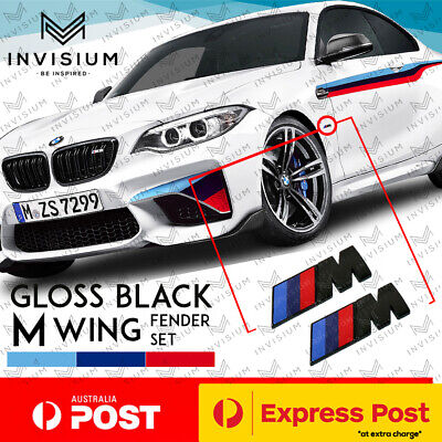 AU17.95 • Buy 2Pc GLOSS BLACK M Sport Side Fender Wing Emblem Badge For BMW M2 M3 M6 X3 X5 X6