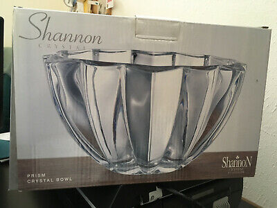 $22.95 • Buy Shannon By Godinger Prism Crystal Bowl 10  Diameter In Original Box