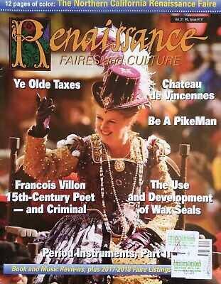 Renaissance Faires And Culture Issue 111 Vol 21 #5 N California Faire Wax Seals • 3.50£