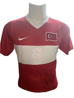 Signed Cenk Tosun Turkey Home Shirt Everton Crystal Palace Besiktas 2 • 89.99£