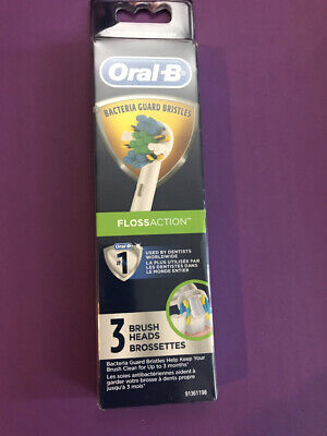 AU18.28 • Buy Oral-B Floss Action 3 Pack Replacement Brush Heads