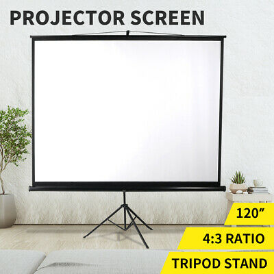 AU99.99 • Buy 120 Inch Projector Screen Tripod Stand Home Outdoor Screens Cinema Portable HD3D