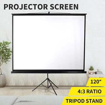 AU125.99 • Buy 120 Inch Projector Screen Tripod Stand Home Outdoor Screens Cinema Portable HD3D