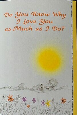 """Blue Mountain Sentiment Card """" Do You Know Why I Love You As Much As I Do """"  • 4.99£"""