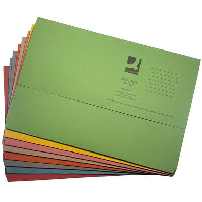 £4.19 • Buy 10 X Foolscap Heavyweight A4 Document Storage Wallets Paper Files Folders 285gsm