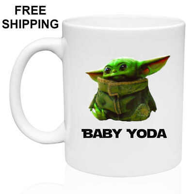 $13.99 • Buy Baby Yoda, Birthday, Christmas Gift, White Mug 11 Oz, Coffee/Tea