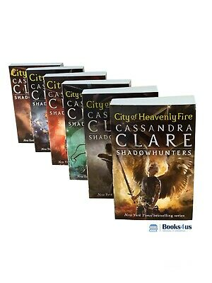 Shadowhunters Series Cassandra Clare Set 6 Books Mortal Instruments Collection • 15.46£